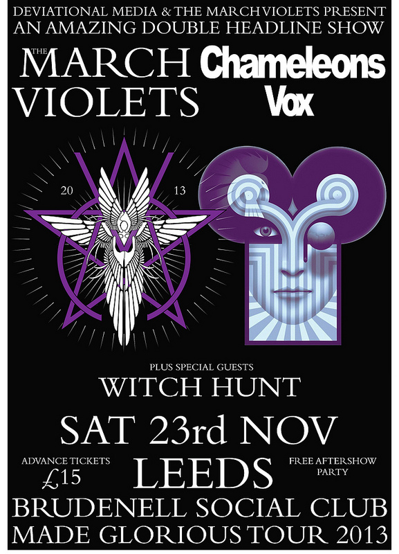 The March Violets Chameleons Vox Plus Guest Support Witch